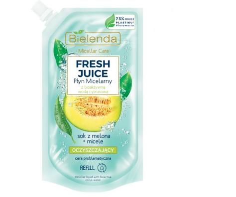 """Bielenda Fresh Juice Płyn micelarny oczyszczający z wodą cytrusową Melon 500ml - doypack"""""""