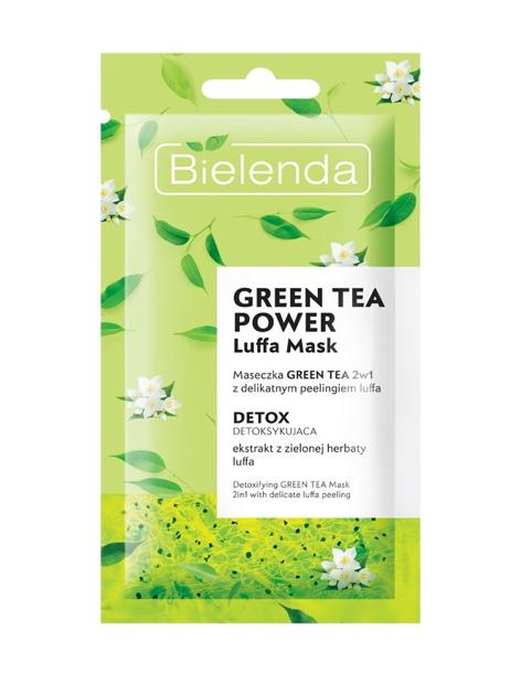 "Bielenda Luffa Mask Maseczka na twarz detoksykująca Green Tea Power 2w1  8g"""