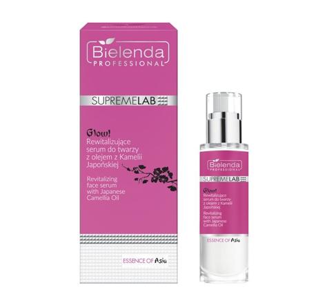 """Bielenda Professional Supremelab Essence of Asia GLOW! Rewitalizujące serum do twarzy z olejem z Kamelii Japońskiej 30ml"""""""