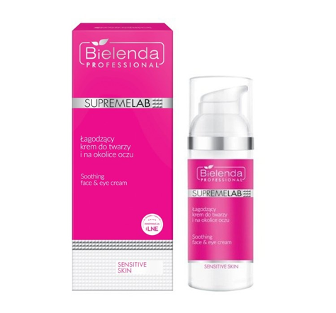 """Bielenda Professional Supremelab Sensitive Skin Łagodzący krem do twarzy i na okolice oczu 50ml"""""""