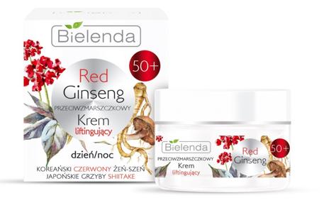Bielenda Red Ginseng 50+ Przeciwzmarszczkowy Krem liftingujący na dzień i noc 50 ml