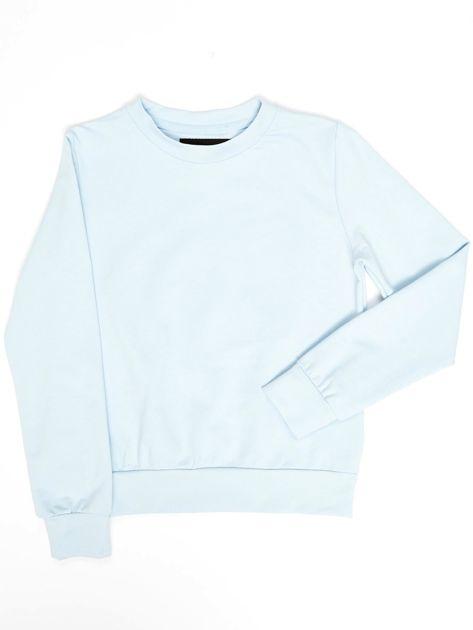 Błękitna bluza młodzieżowa                              zdj.                              1
