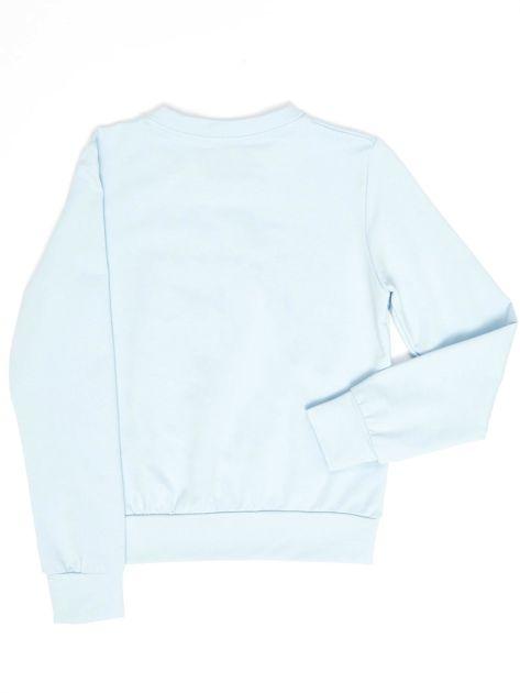 Błękitna bluza młodzieżowa                              zdj.                              2