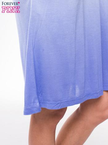 Błękitna sukienka na ramiączka z efektem ombre                                  zdj.                                  7