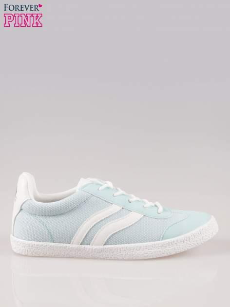 Błękitne buty sportowe faux leather Cupcake w stylu casual                                  zdj.                                  1