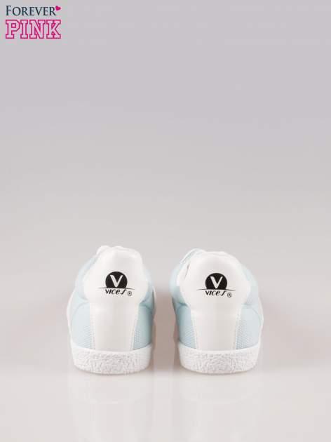 Błękitne buty sportowe faux leather Cupcake w stylu casual                                  zdj.                                  3