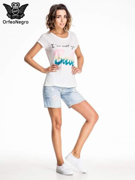 Błękitne jeansowe szorty z przetarciami                              zdj.                              6