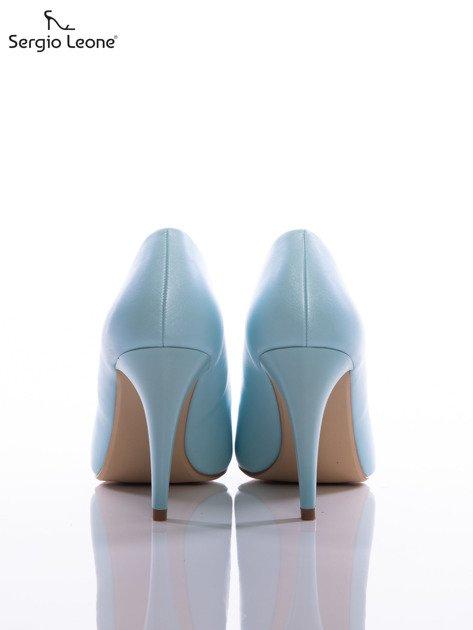 Błękitne szpilki Sergio Leone z perłową poświatą                              zdj.                              3