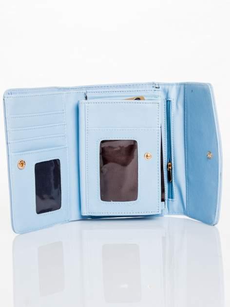 Błękitny portfel z plecionką                                  zdj.                                  3