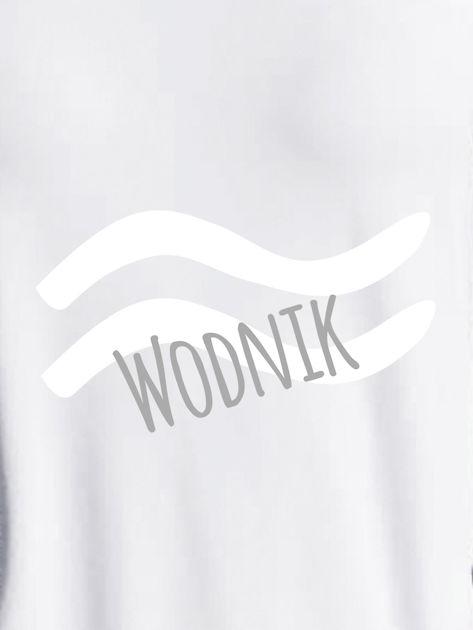 Bluza damska z motywem znaku zodiaku WODNIK jasnoszara                                  zdj.                                  2