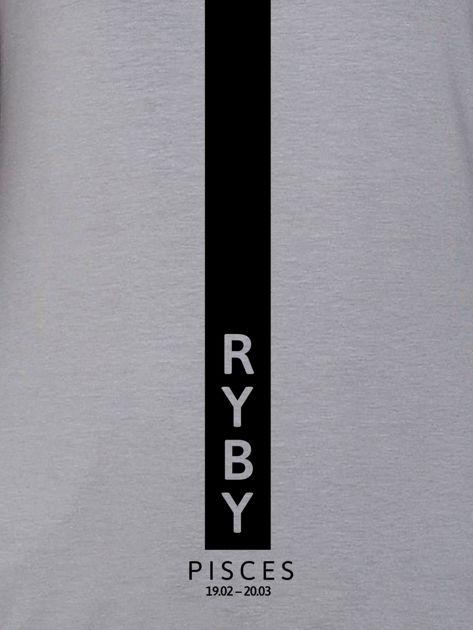 Bluza damska znak zodiaku RYBY szara                                  zdj.                                  2