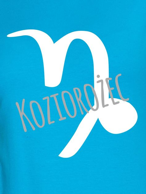 Bluza damska z motywem znaku zodiaku KOZIOROŻEC turkusowa                                  zdj.                                  2