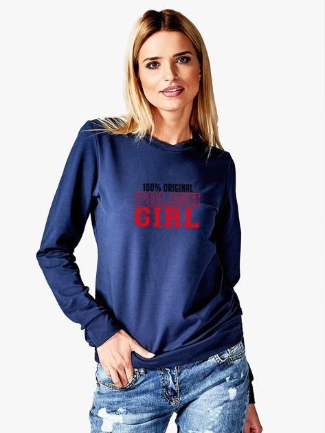 Bluza damska 100% ORIGINAL POLISH GIRL granatowa                              zdj.                              1