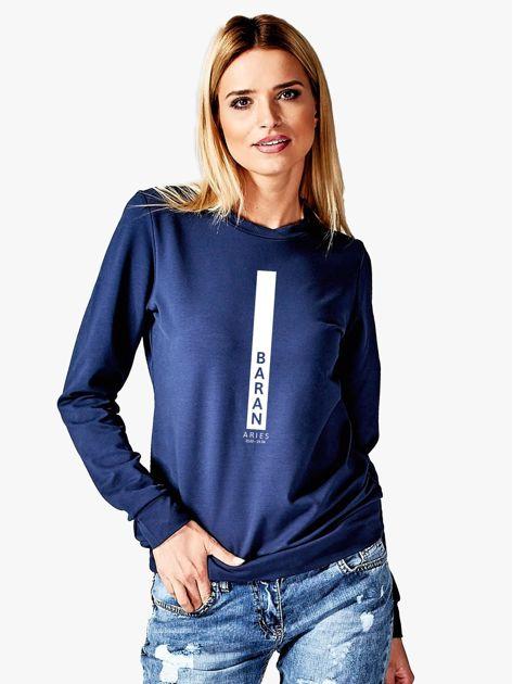 Bluza damska BARAN znak zodiaku granatowa                              zdj.                              1