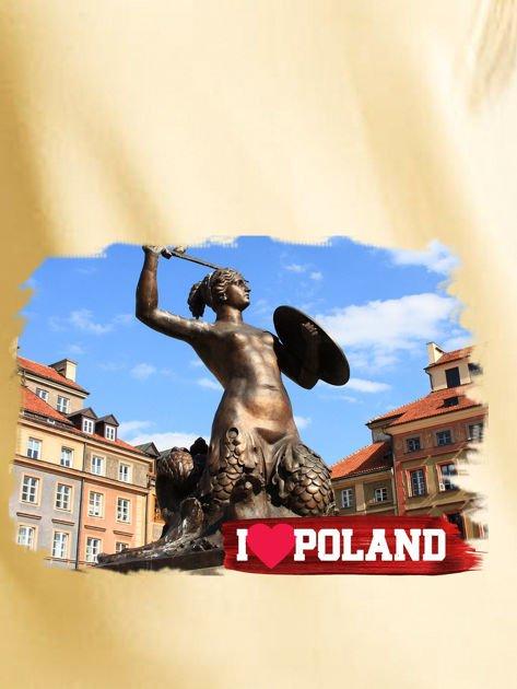 Bluza damska I LOVE POLAND z nadrukiem Warszawy żółta                              zdj.                              2