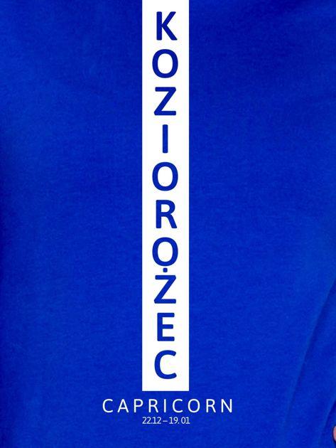 Bluza damska KOZIOROŻEC znak zodiaku kobaltowa                              zdj.                              2