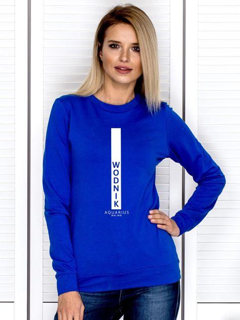 Bluza damska WODNIK znak zodiaku kobaltowa                              zdj.                              1