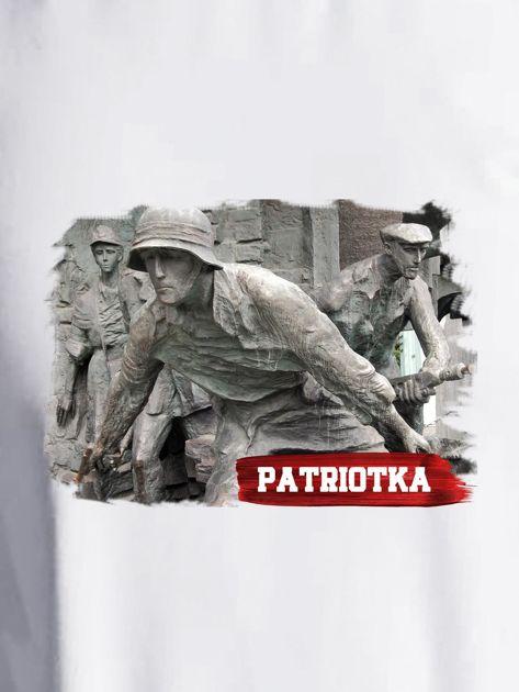 Bluza damska patriotyczna PATRIOTKA z nadrukiem ecru                              zdj.                              2