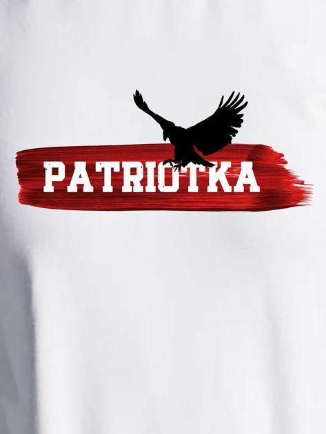 Bluza damska patriotyczna PATRIOTKA z orłem ecru                              zdj.                              2
