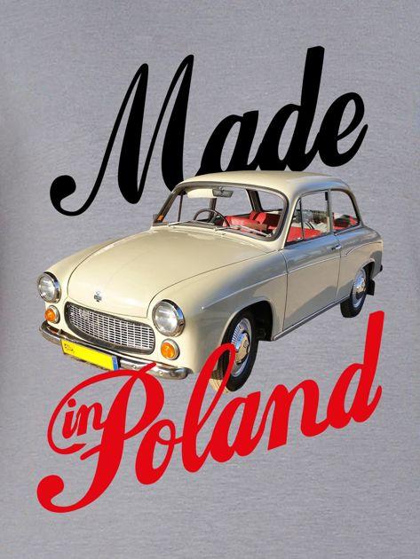 Bluza damska patriotyczna Syrenka MADE IN POLAND szara                              zdj.                              2