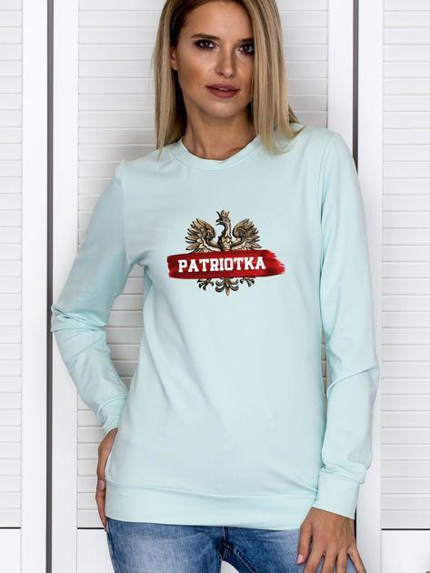 Bluza damska patriotyczna z Orłem Białym PATRIOTKA miętowa                                  zdj.                                  1