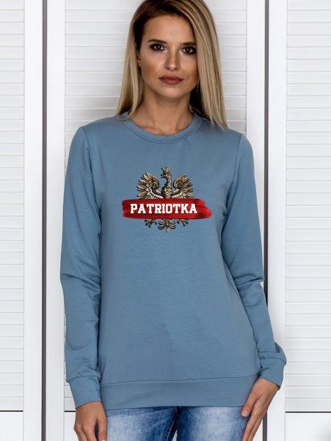 Bluza damska patriotyczna z Orłem Białym PATRIOTKA niebieska                              zdj.                              1