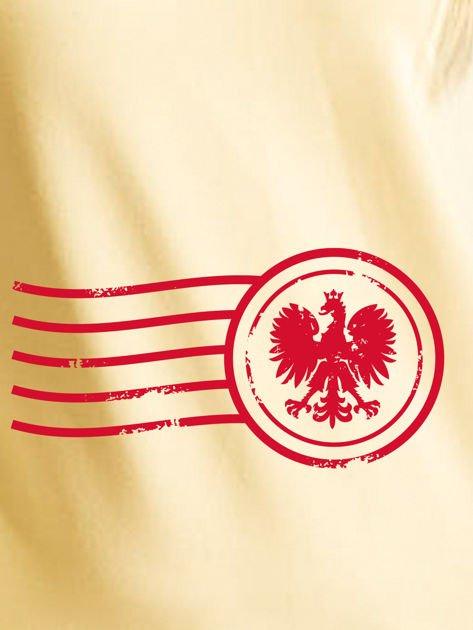 Bluza damska patriotyczna z nadrukiem Orła Białego żółta                                  zdj.                                  2