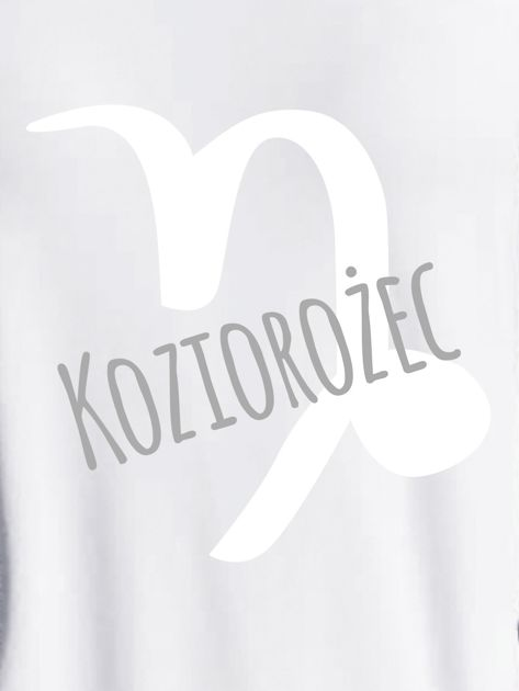 Bluza damska z motywem znaku zodiaku KOZIOROŻEC jasnoszara                              zdj.                              2