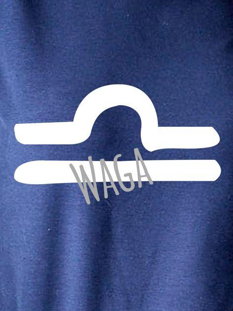 Bluza damska z motywem znaku zodiaku WAGA granatowa                              zdj.                              2