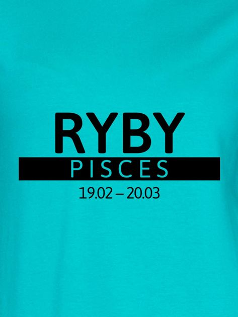 Bluza damska z nadrukiem znaku zodiaku RYBY morska                              zdj.                              2