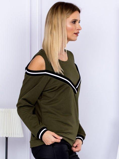 Bluza damska z ściągaczami khaki                              zdj.                              5