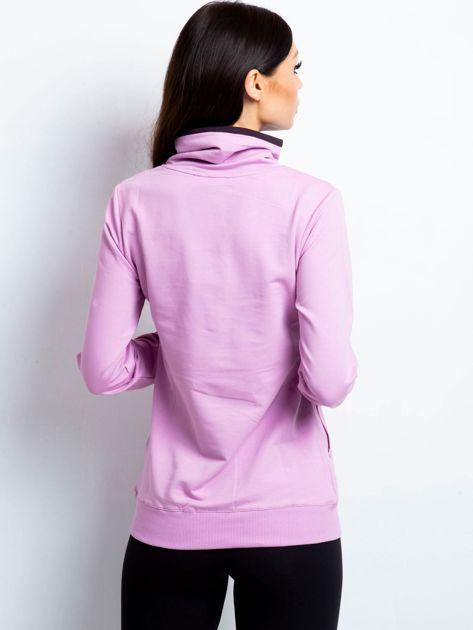 Bluza damska ze stójką i kieszeniami fioletowa                              zdj.                              2