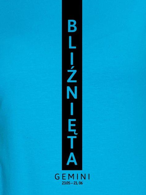 Bluza damska znak zodiaku BLIŹNIĘTA turkusowa                              zdj.                              2