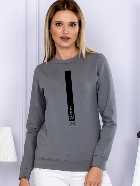Bluza damska znak zodiaku LEW szara                                  zdj.                                  1