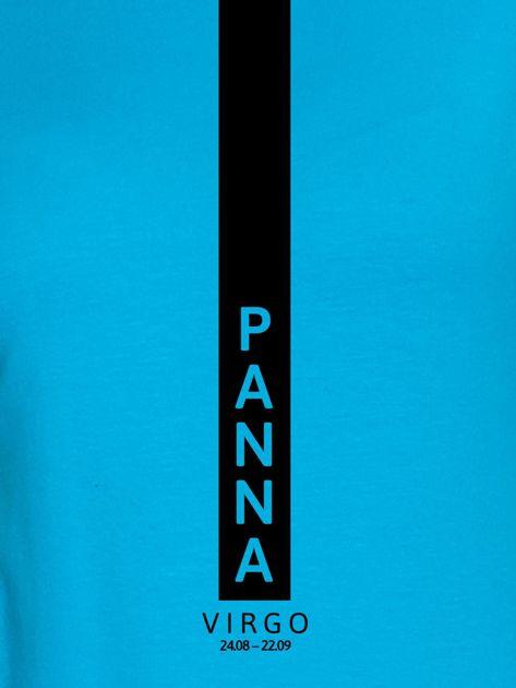 Bluza damska znak zodiaku PANNA turkusowa                              zdj.                              2