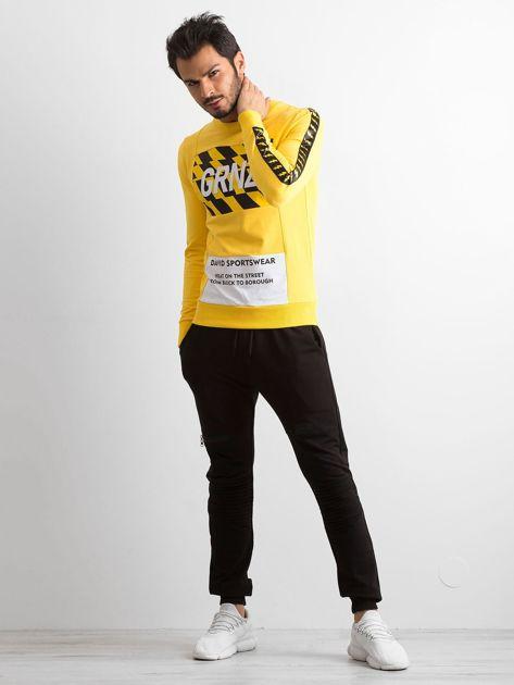 Bluza męska z nadrukiem żółta                              zdj.                              4