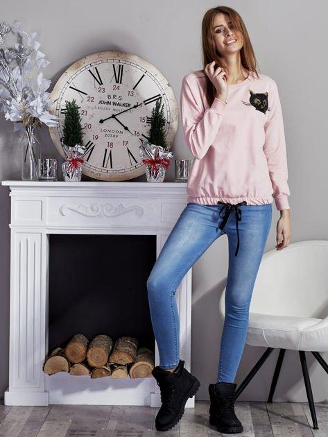Bluza oversize z cekinowym kotem różowa                              zdj.                              4