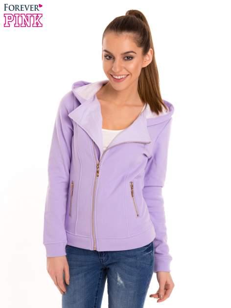 Bluza typu ramoneska w kolorze lila                                  zdj.                                  2