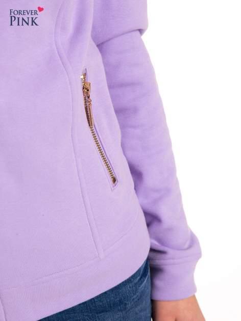Bluza typu ramoneska w kolorze lila                                  zdj.                                  8