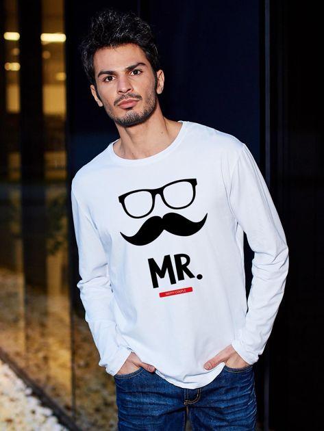 Bluzka biała męska dla par hipster MISTER                                  zdj.                                  1