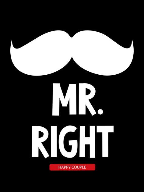 Bluzka czarna męska hipster MR. RIGHT dla par                                  zdj.                                  2