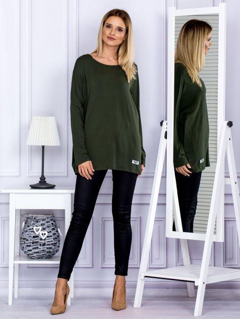 Bluzka damska oversize khaki                              zdj.                              4