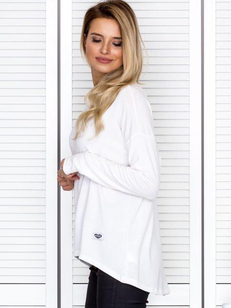 Bluzka damska oversize z długim rękawem ecru                              zdj.                              5
