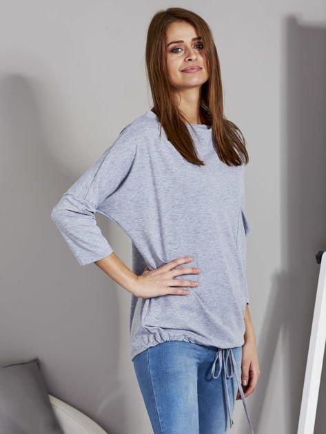 Bluzka damska oversize z kieszenią szara                              zdj.                              5