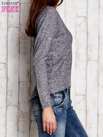 Bluzka damska z asymetrycznym tyłem szara                                  zdj.                                  3