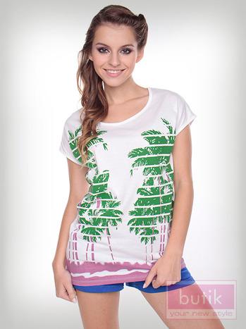 Bluzka palmy w paski                                  zdj.                                  1