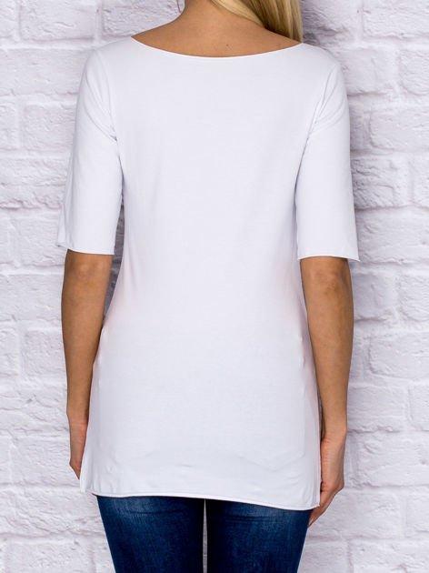Bluzka z surowym wykończeniem biała                              zdj.                              2