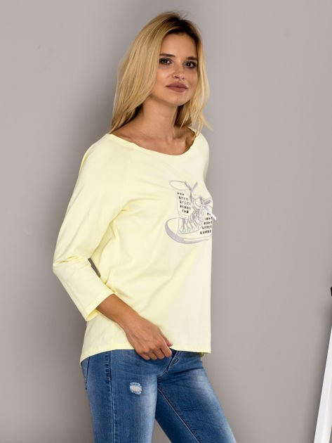 Bluzka z trampkami żółta                              zdj.                              3