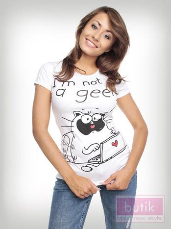 Bluzka z zabawnym kotem                                  zdj.                                  2