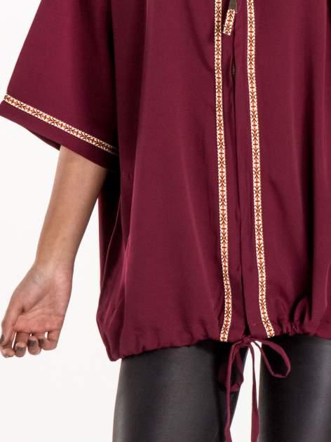 Bordowa bluza z kapturem w stylu boho                                  zdj.                                  6